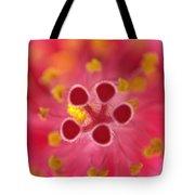 Hibiscus Macro Abstract Tote Bag