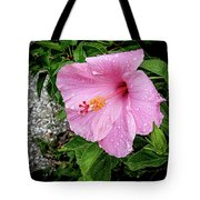 Hibiscus On A Rainy Day Tote Bag