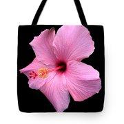 Hibiscus On Black Tote Bag