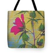 Hibiscus On Brick Tote Bag