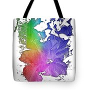 Hibiscus S D Z 2 Cool Rainbow 3 Dimensional Tote Bag