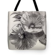 Hibiscus Sketch Tote Bag