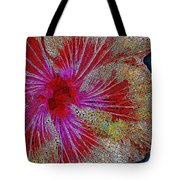 Hibiscus Stained Glass Tote Bag