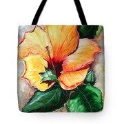Hibiscus  Sunny Tote Bag