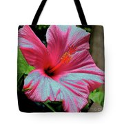 Hibiscus With A Solarize Effect Tote Bag