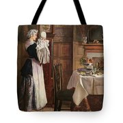 Hickory Dickory Dock  Tote Bag by Edith Hopkins