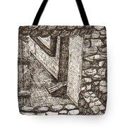 Hidden Courtyard Tote Bag