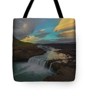 Hidden Icelandic Waterfall Tote Bag