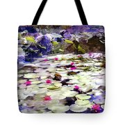 Hidden Pond Lotusland Tote Bag