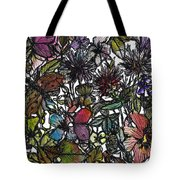 Hide And Seek In Wildflower Bushes Tote Bag