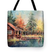 Hide Out Cabin Tote Bag