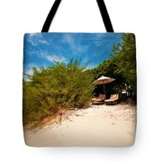 Hideaway. Maldivian Beach Tote Bag by Jenny Rainbow