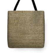 Hieroglyph Iv Tote Bag