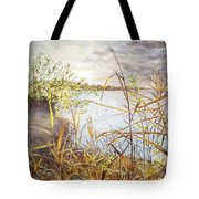 Hieroglyph Of Shining Autumn Tote Bag