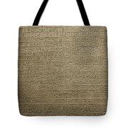 Hieroglyph V Tote Bag