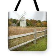 Higgins Farm Windmill Brewster Cape Cod Tote Bag