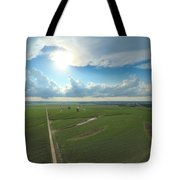 High Above Cropland  Tote Bag
