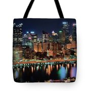 High Above Pittsburgh Tote Bag