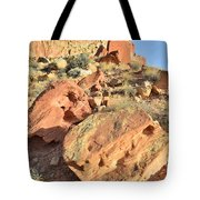 High Above The Campground Tote Bag