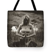High Contrast Meditation Meadow Tote Bag