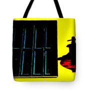 High Contrast Window And Lamp Tote Bag