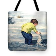 High Country Snow Girl Tote Bag