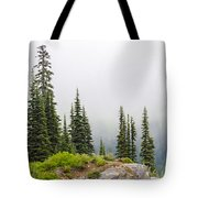 High Forest On Mt. Rainier Tote Bag