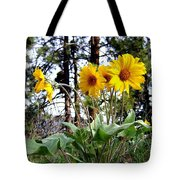 High In The Hills Tote Bag