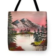 High Lakes Summer Sunset Tote Bag