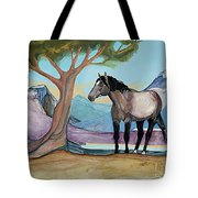 High Meadow Mustang Tote Bag