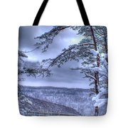 High Mountain Fence Tote Bag