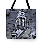 High Noon Black And White Tote Bag
