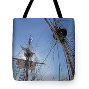 High On The Foremast Tote Bag