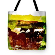 High Plains Horses Tote Bag