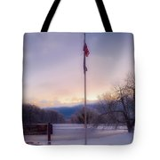 High Point State Park At Sunset Tote Bag