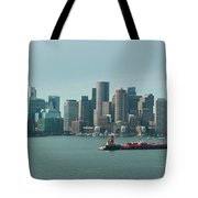 High Resolution Panoramic Of Downtown Boston During The Day Tote Bag