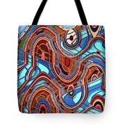 High Rise Abstract Phoenix Tote Bag