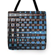 High Rise Construction Abstract Tote Bag