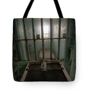 High Risk Solitary Confinement Cell In Prison Through Bars Tote Bag