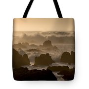 High Surf At Asilomar Beach Tote Bag