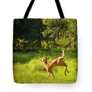 High Tailing It Tote Bag