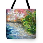 High Tide In Paradise Tote Bag