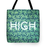 High Typo  Cannabis   Hemp  420  Marijuana   Pattern Tote Bag