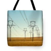 High Voltage Power Lines Tote Bag