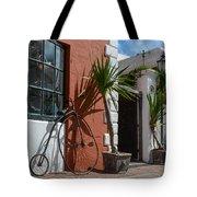 High Wheel Bicycle In Bermuda Tote Bag