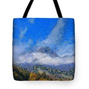 High Winds And Clouds Tote Bag