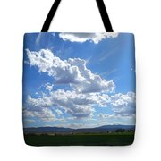 High Winds Chase The Rain Clouds Away Tote Bag