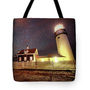 Highland Light Truro Massachusetts Cape Cod Starry Sky Shadow Tote Bag