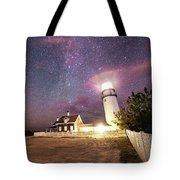 Highland Light Truro Massachusetts Cape Cod Starry Sky Shadow Yard Tote Bag