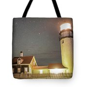 Highland Light Truro Massachusetts Cape Cod Starry Sky Tote Bag